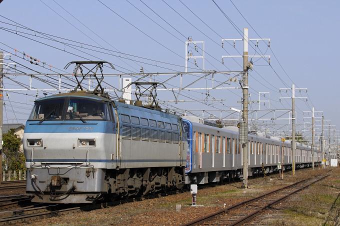 8862レ EF66-129号機+東武鉄道甲種輸送