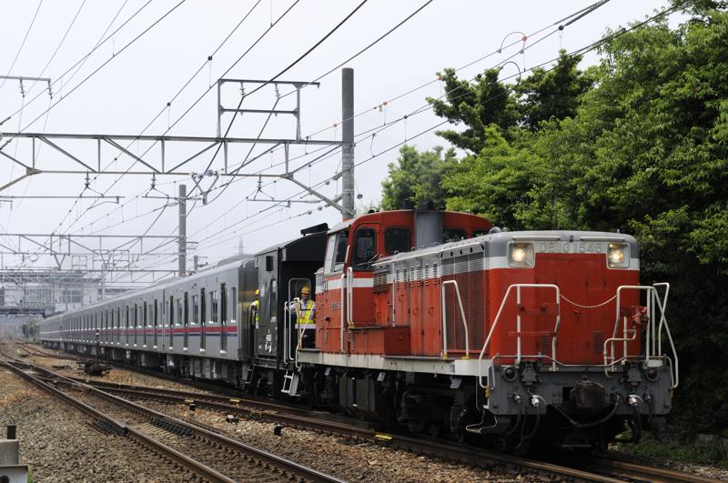9772レ DE10-1546号機牽引の京王甲種