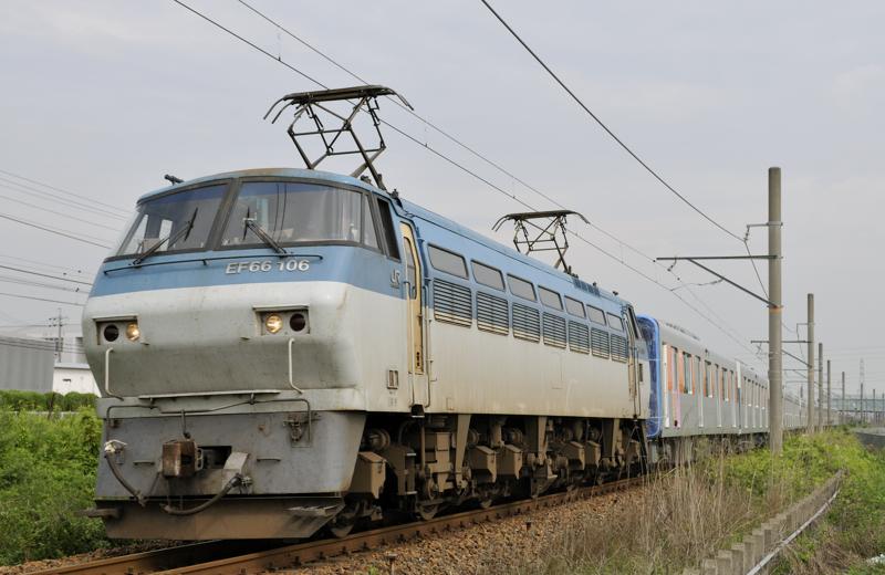 8862レ EF66-106号機+東武50050系甲種