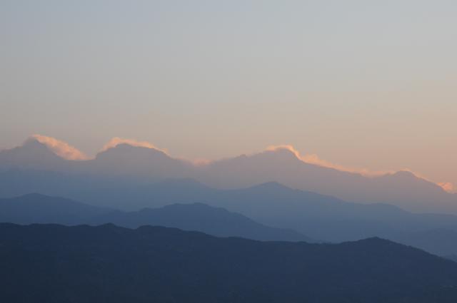 アンナプルナに光る雲
