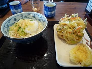 おろし醤油うどん+天ぷら