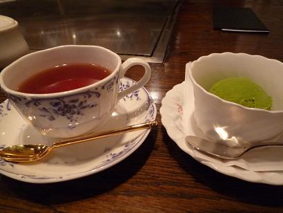 紅茶&シャーベット