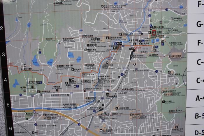 太宰府の地図