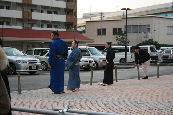 福岡国際センターのお相撲さん