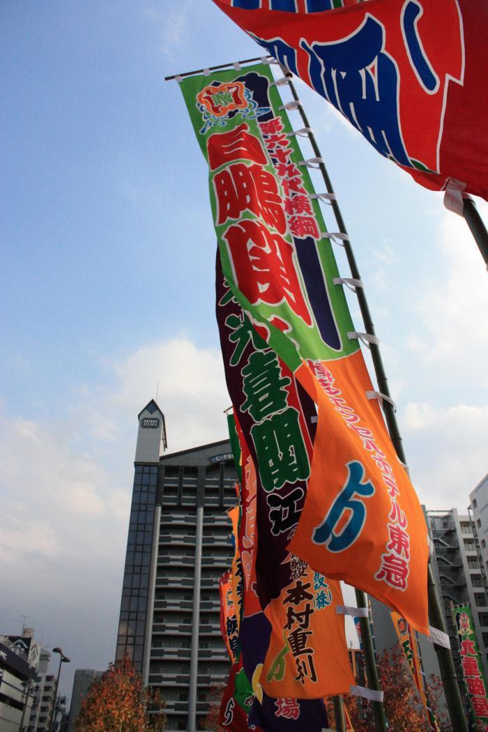 大相撲九州場所の旗