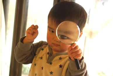 虫眼鏡でアップ