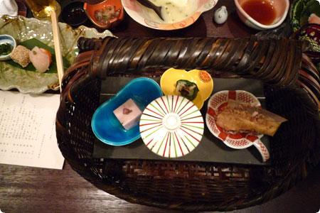 橋本屋の夕食