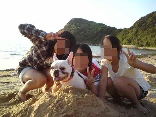 砂山と三人