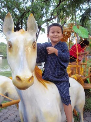 うその馬に乗って。