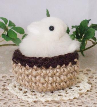 羊毛 フェルト ハンドメイド うさぎ ウサギ