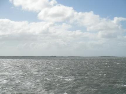 近くの島が見えてきた