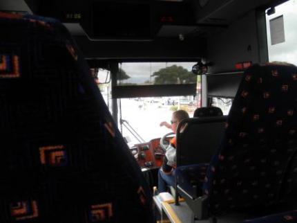 バスの中です。
