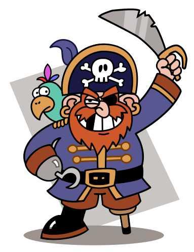 よくある海賊のイメージ