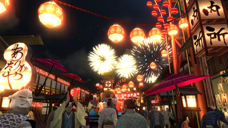 色鮮やかな祇園の町並み