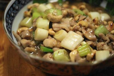 宮庁鶏丁:鶏のカシューナッツ炒め