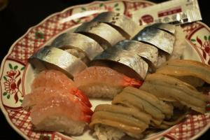 A寿司三種盛り