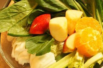 a6野菜ジュースの材料アップ