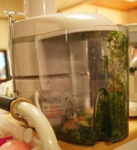 b小松菜のジュース・絞りカス