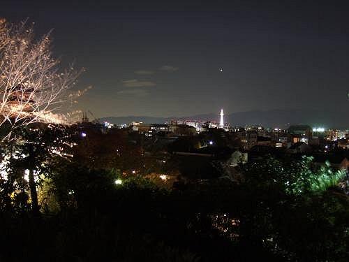 高台寺からの京都駅方向の夜景