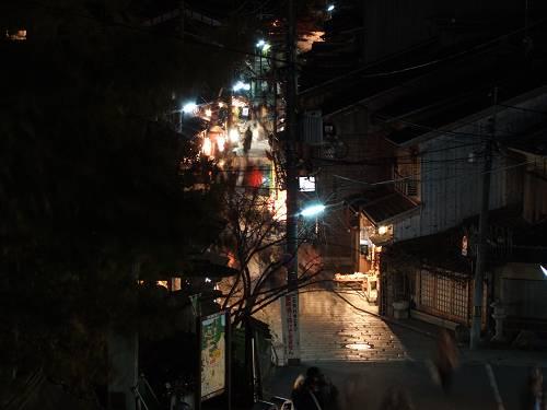 高台寺から二年坂方面の夜景