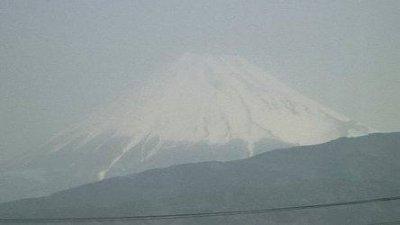 静岡では富士山が綺麗に見えました