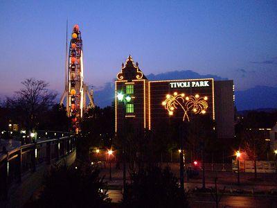倉敷チボリ公園の夜景