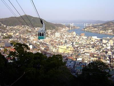 千光寺山ロープウェイと尾道水道