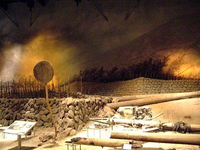 雲仙岳災害記念館の展示物