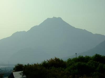 雲仙岳災害記念館から見た雲仙普賢岳
