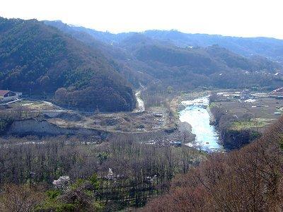 懐古園から見る千曲川