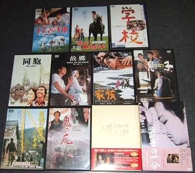 「男はつらいよ」シリーズDVD以外の手持ちの山田洋次監督作品