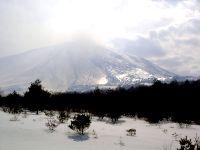 六里ヶ原から見る浅間山