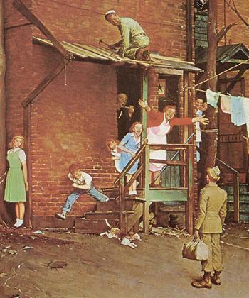 ノーマン・ロックウェル「帰ってきたG・I」(1945)