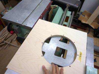 バーチ合板 溝彫り