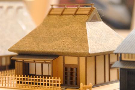 さんけいさん 1/150 わらぶき屋根