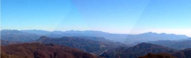 武尊山から赤城のパノラマ