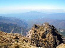 武尊山の遠望