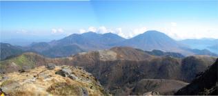 男体山から太郎山方面