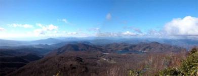 鹿俣山山頂からのパノラマ