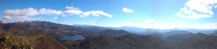 尼ガ禿山山頂からのパノラマ