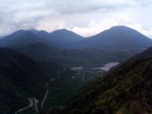 五色山から湯元方面