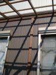 ウッドデッキ屋根(外壁側)