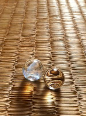old marbles on tatami