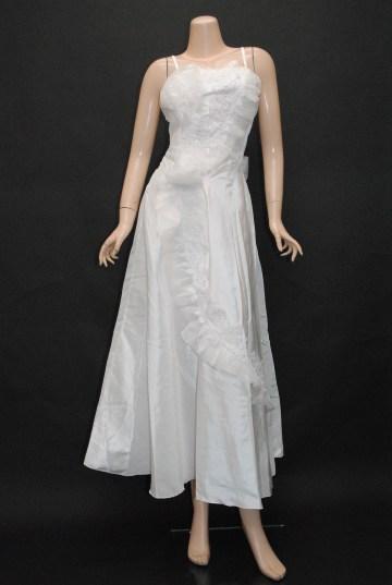 オーガンジーフラワー ロングドレス