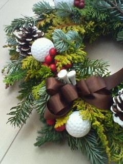 ゴルフボール付き! クリスマスリース!