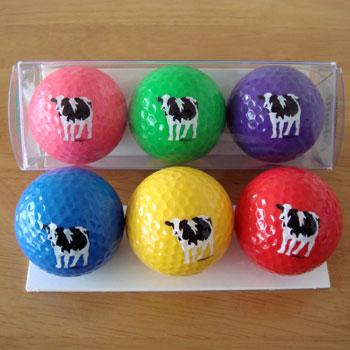 牛!のゴルフボール 6色!