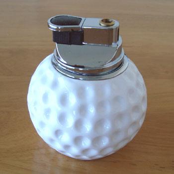ゴルフボール型 卓上ライター!