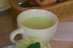 枝豆のスープは初めてでした♪