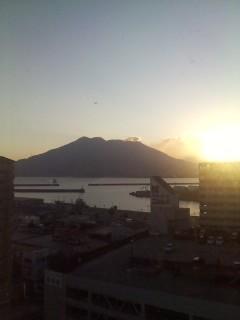 桜島の初日の出