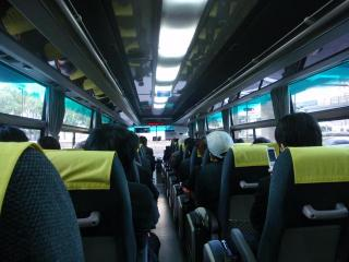 Yキャットバス車内